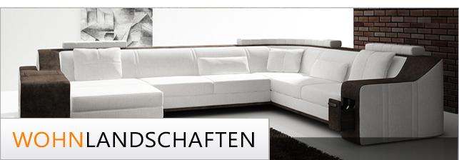 leder stoff wohnlandschaften xxl i modernes design. Black Bedroom Furniture Sets. Home Design Ideas
